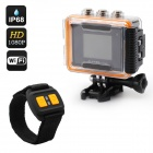 "CARVUN AT200 Wi-Fi 1.5"" TFT 5MP CMOS 1080P Full HD Outdoor Sport Digital Video Camera - Black"