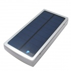 Itian Dual-USB Output 15000mAh Li-po Solar Energy Power Bank - Silver