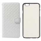 Luxury Woven Pattern 2-in-1 Protective PU Leather + PC Case for IPHONE 6 - White