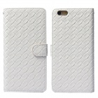 "Stylish Woven Texture 2-in-1 PU Leather Case w/ Holder for IPHONE 6 Plus 5.5"" - White"