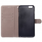"Frosted PU Leather Case w/ Card Slot for IPHONE 6 Plus 5.5"" - Black"