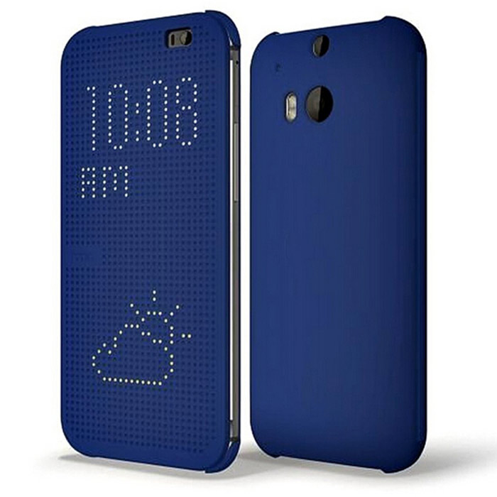 Point of View Protective Flip Open ABS Case for HTC One M8 - Blue