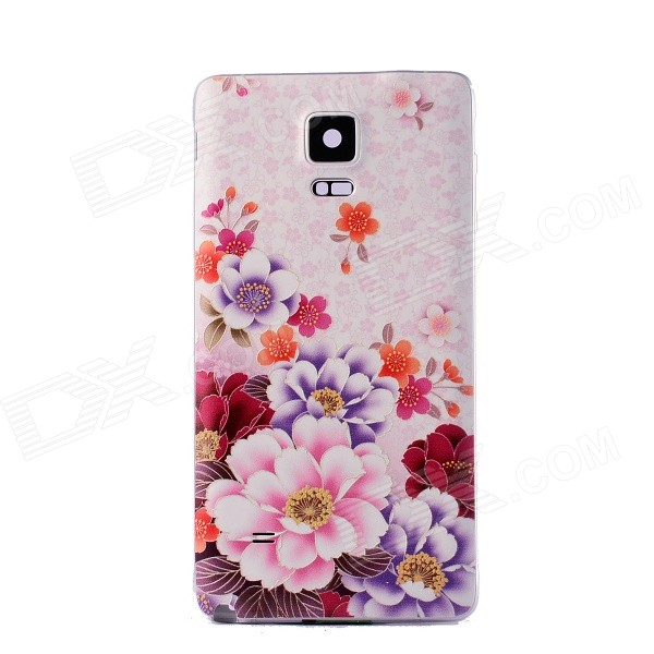 Plastic Cases for Samsung Galaxy Note 4 - Light Pink + Multicolor