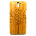 Big Tree Pattern Detachable Bamboo Back Case for Oneplus One - Yellow
