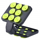 360 Degrees Rotating Mobile Phone Multifunction Placing Plate Holder - Yellow + Black