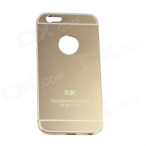 Aluminum Alloy Back Case Cover for IPHONE 6 - Champagne Gold