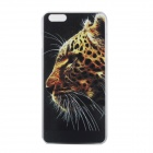 Embossed Leopard Head Pattern Protective PC Back Case for IPHONE6 PLUS - Black + Brown