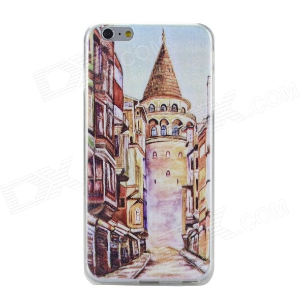 Oil Painting Pattern Case for IPHONE 6 PLUS - Brown + Multi-Color
