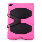 "Protective Silicone Shockproof Fallproof Dustproof Case w/ Stand for IPAD AIR 2 9.7"" - Black + Pink"