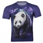 XINGLONG 3D Panda Short-Sleeved T-Shirt - Dark Purple (XXL)