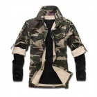 NT00029-3 Men's Leisure Cotton Blended Jacket Coat - Camouflage (XXL)