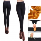 Women's Thickened Velvet Warm Leggings - Black