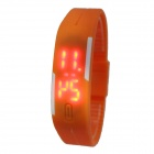 Silikon-Band LED-Digital-Sport-Uhr Armband - Orange (1 x 377)