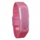 Unisex Silicone Band LED Sports Bracelet Watch - Pink