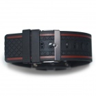 HY-2 Men's Silicone Band Digital Wrist Red LEDWatch - Black