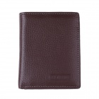 GB366YO Men's High-Quality Top Layer Cow Leather Wallet w/ Money / Photo / Card Slots - Brown