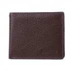 GB273YO Men's High-Quality Top Layer Cow Leather Wallet w/ Money / Photo / Card Slots - Brown