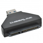 "CHEERLINK USB 3.0 to SATA Converter w/ USB 3.0 Cable + EU Plug Power Adapter for 2.5~3.5"" SATA HDD"