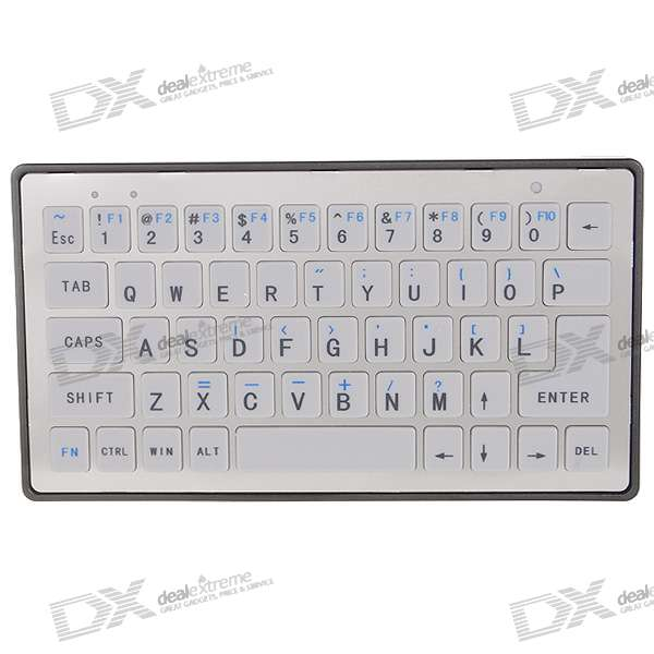 2.4GHz Rechargeable Handheld Bluetooth Wireless Keyboard for PC/PDA/Cell Phones