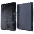 Stylish Protective Plush + PC Back Case for IPAD AIR - Black