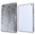 Stylish Protective Plush + PC Back Case for IPAD AIR - Gray