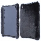 Stylish Protective Plush + PC Back Case for IPAD MINI 1 / 3 / RETINA IPAD MINI - Black