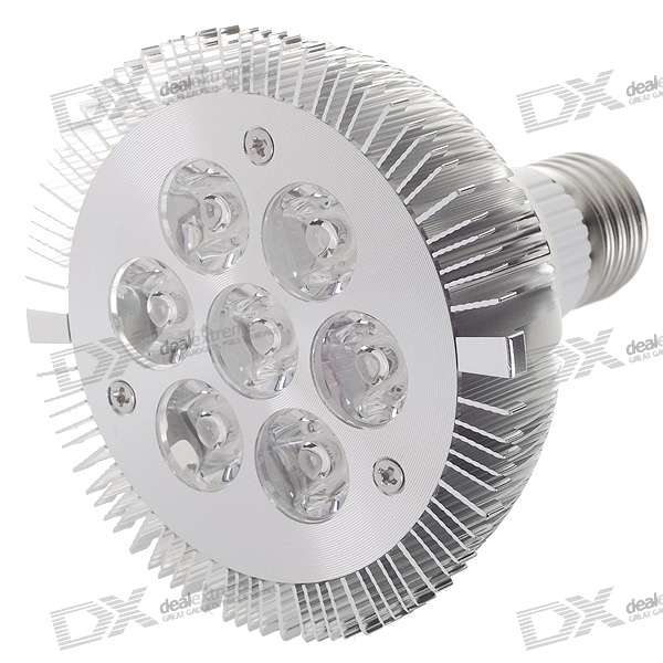 E27 7W 7-LED 630-Lumen 6000K White Light Bulb (85~265V AC) e27 9w 9 led 810 lumen 6000k white light bulb 85 265v ac
