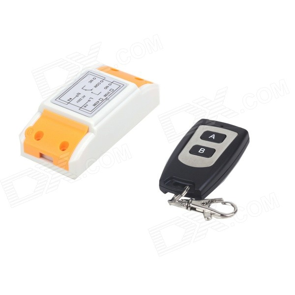 ZnDiy-BRY 220V 1CH Waterproof 2-Button Remote Control Switch - White