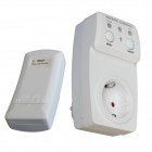 Wireless Remote Control AC Power Outlet EU Plug Switch - White