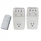 TS-831-2 US Wireless Remote Control AC Power Outlet Plug Switches - White