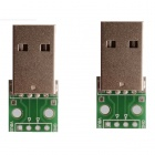 XGHF USB macho a 2,54 mm Dip 4-Pin Módulo - Verde (2 PCS)