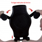 OUMILY Universal Suction Cup Plastic Cellphone Holder Stand - Black