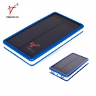 SP0014 Universal Dual USB Output 5V1A / 5V2.1A 18000mAh Li-ion Polymer Solar Power Bank - Blue
