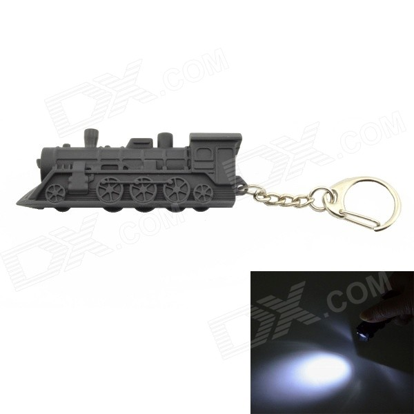 Locomotive Style Key Ring w/ White Light / Whistle (3*LR41)