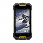 "Snopow M8S IP68 Android 4.2 Dual Core 3G Phone w/ 4.5"", 4GB ROM, GPS, BT, Wi-Fi - Black + Yellow"