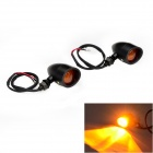 Yellow Light Retro Motorcycle Steering Lamp for Harley Davidson Cruiser - Black + Orange (2PCS)