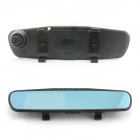"D&Z R3 4.3"" TFT 120° Wide-Angle Dual-Camera Car Rearview Mirror DVR Camcorder w/ 16GB C10 TF Card"