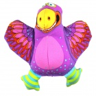 Cartoon Eagle Style Canvas + Sponge Toy w/ Sound Effect for Pet Cat / Dog - Purple + Yellow