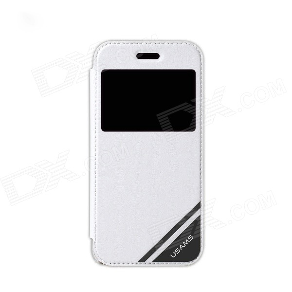 USAMS IP6FF02 Protective Flip-Open Case w/ Display Window for IPHONE 6 - White