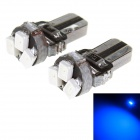 T5 1W 23lm 558nm 3-SMD 1206 LED Blue Light Car Instrument Lamps (12V / 2 PCS)
