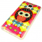 Owl Pattern Back Case for Samsung Galaxy Note 4 - Red + Multi-Colored