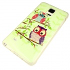 Owl Pattern Case for Samsung Galaxy Note 4 - Green + Multi-Colored