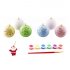 DIY Christmas Santa Claus + Painted Eggs Toys Set - White + Pink + Multi-Colored