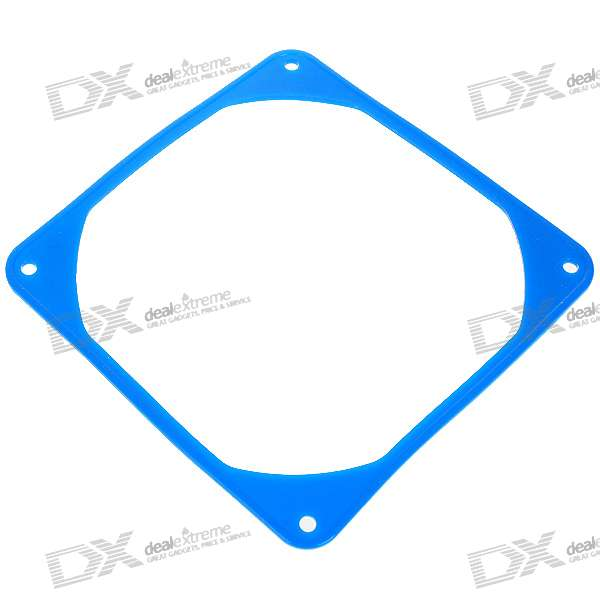 12CM Silicone Reduced Vibration Ring for Desktop PC - Blue