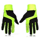 SAHOO 42890 Cycling Riding Warm Full Fingers Touch Screen Gloves - Black + Yellow (XXL / Pair)
