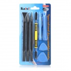 Kaisi K-X1468 Desmontar Kit para IPHONE / IPAD - Negro + Azul