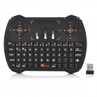 Multi-Function 2.4GHz Wireless Keyboard w/ Touchpad / Multimedia Key - Black