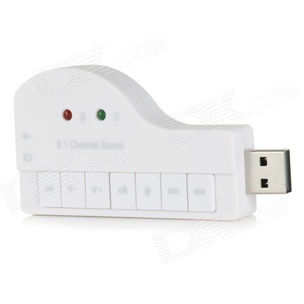 USB 2.0 Hi-Fi Magic Voice 8.1-CH Sound Card - White