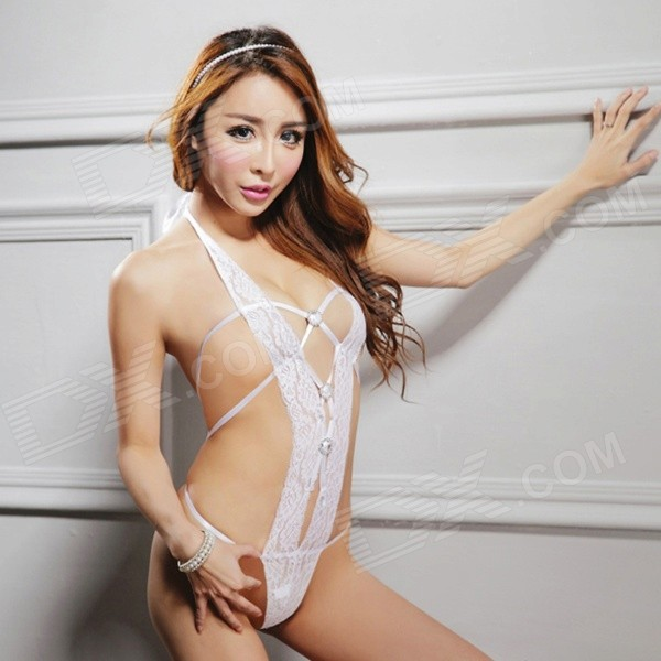 Ultra sexy see through lingerie models were
