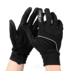 SAHOO 42890 Unisex Cycling Riding Warm Full Fingers Touch Screen Gloves - Black (L / Pair)